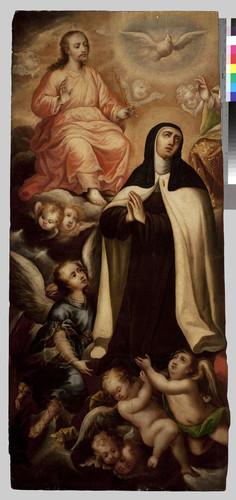 Santa Teresa con la Santísima Trinidad