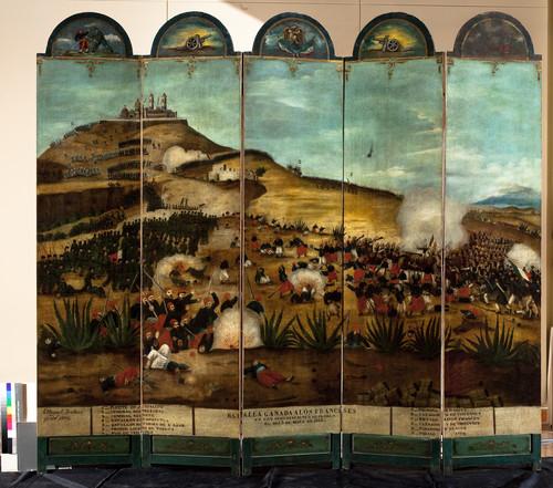Biombo de la Batalla del 5 de mayo