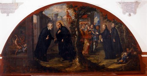 Encuentro de san Ignacio de Loyola con san Felipe Neri