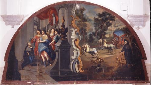 Huida y comunión de san Estanislao de Kostka