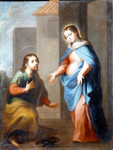 San José ante la Virgen María