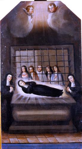 Exposición del cuerpo de santa Mónica