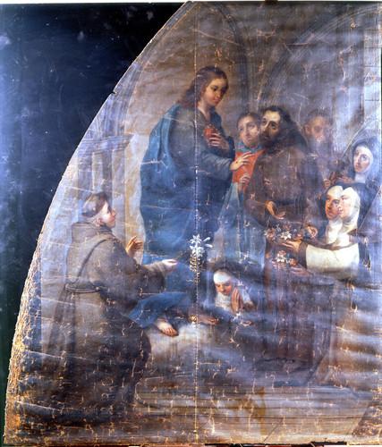 Alegoría del Sagrado Corazón de Jesús con la clarisas