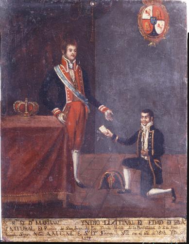 Fernando VII con el indio Mariano