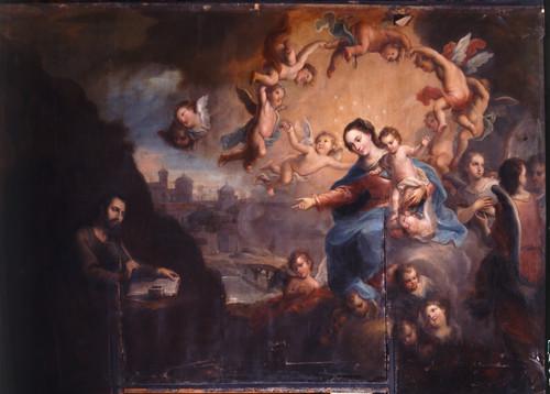 La Virgen dicta a san Ignacio el libro de los Ejercicios