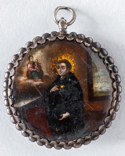 Aparición de la Virgen a un santo