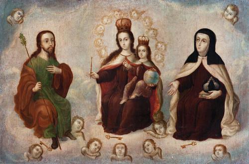Virgen del Carmen, santa Teresa y san José