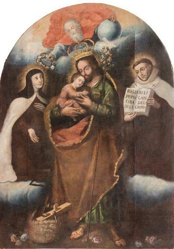 San José con el Niño, santa Teresa y san Juan de la Cruz