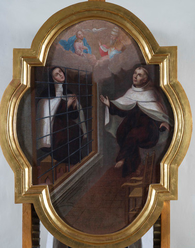 Santa Teresa levitando con san Pedro Alcántara