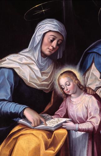 Santa Ana y la Virgen