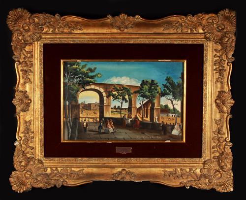 Vista de la calzada de Guadalupe y el acueducto