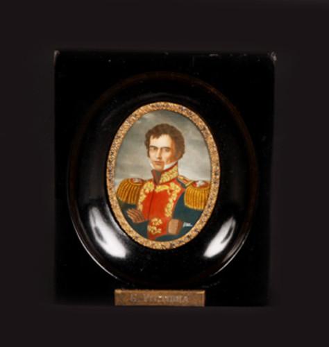 Óleo miniatura Guadalupe Victoria
