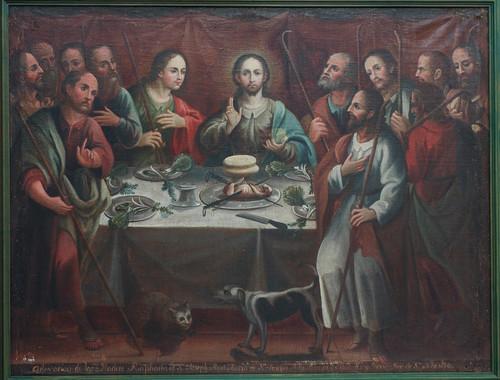 Representación religiosa de la última cena