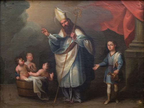 San Nicolás de Bari salvando a tres niños