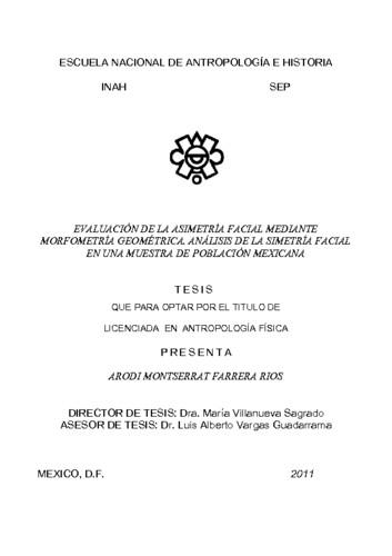 Evaluación de la asimetría facial mediante morfometría geométrica. Análisis de la simetría facial en una muestra de población mexicana