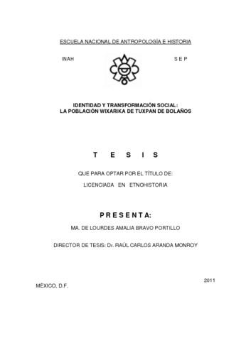 Identidad y transformación social: la población Wixarika de Tuxpan de Bolaños