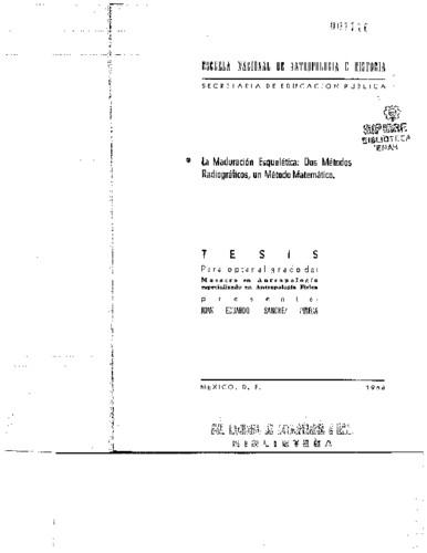 La maduración esquelética: dos métodos radiográficos, un método matemático