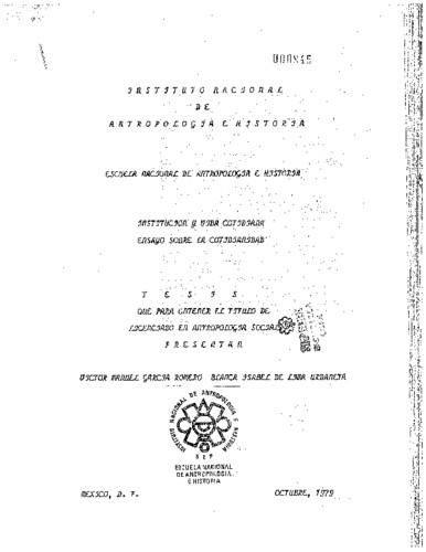 Institución y vida cotidiana: ensayo sobre la cotidianidad