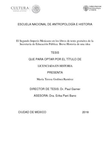 El segundo imperio mexicano en los libros de texto gratuitos de la Secretaría de Educación Pública