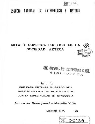 Mito y control político en la sociedad azteca