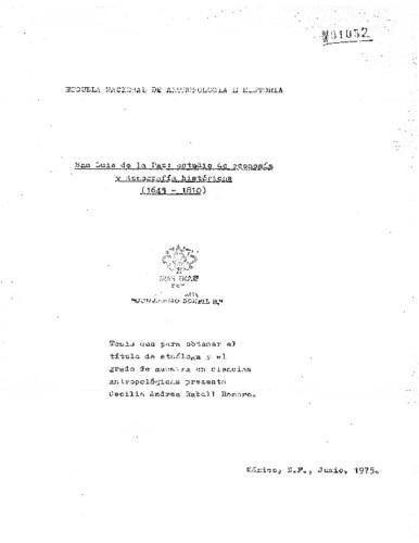 San Luis de la Paz: estudio de economía y demografía históricas (1645-1810)