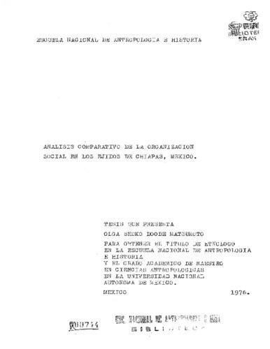 Análisis comparativo de la organización social en dos ejidos de Chiapas, México