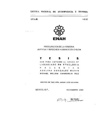 Procuración de la armonía: justicia y derechos humanos en Chilón