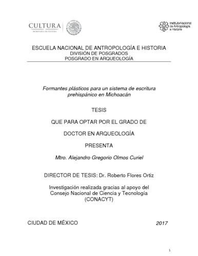 Formantes plásticos para un sistema de escritura prehispánico en Michoacán