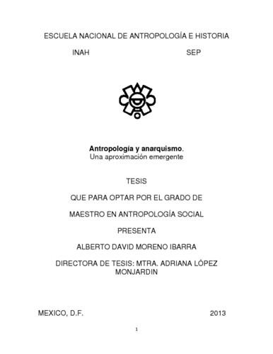 Antropología y anarquismo