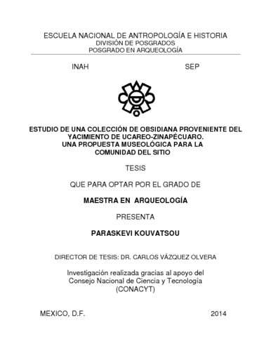 Estudio de una colección de obsidiana proveniente del yacimiento de Ucareo-Zinapécuaro