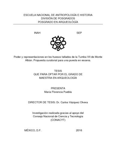 Poder y representaciones en los huesos tallados de la Tumba VII de Monte Albán