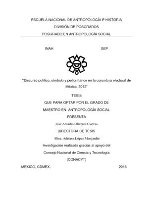 Discurso político, símbolo y performance en la coyuntura electoral de México, 2012