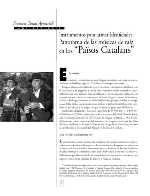 """Instrumentos para armar identidades. Panorama de las músicas de raíz en los """"Països Catalans"""""""