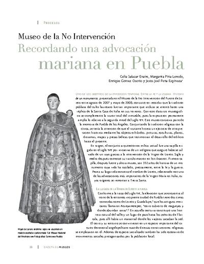 Museo de la No Intervención. Recordando una advocación mariana en Puebla