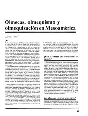 Olmecas, olmequismo y olmequización en Mesoamérica