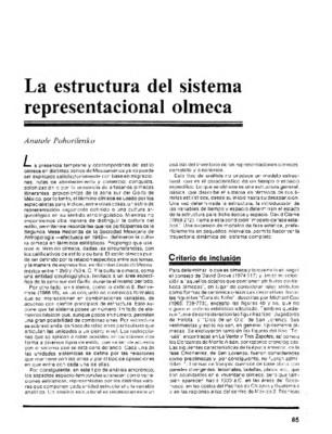 La estructura del sistema representacional olmeca