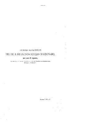 Apuntes biográficos de Francisco Severo Maldonado.