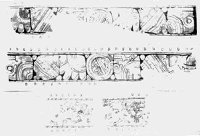 Glifos y personajes prehispánicos de Tizatlán, reproducción