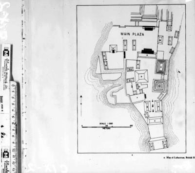 Mapa de Lubaantún del libro The Inscripcions of Peten de Morley