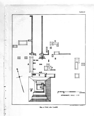 Mapa de Polol del libro The Inscripcions of Peten de Morley