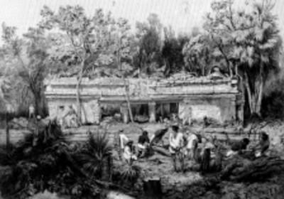 Lámina 24 Templo en Tulum, reprografía bibliográfica