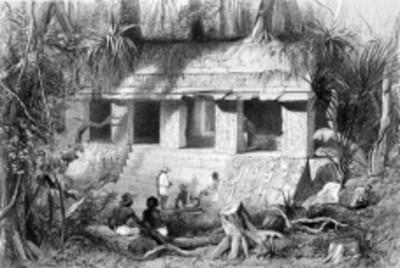Lámina 7: Galería Principal del Palacio de Palenque, reprografía bibliográfica