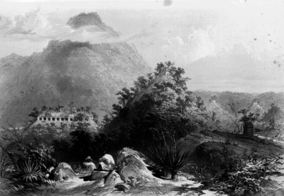 Lámina 6: Panorama de Palenque, reprografía bibliográfica