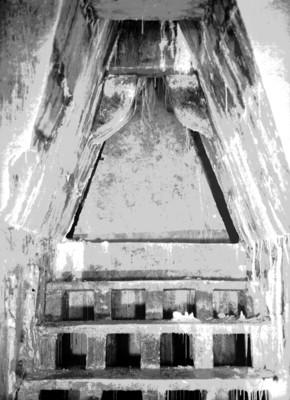 Escaleras y entrada a la tumba de Pakal, durante su restauración