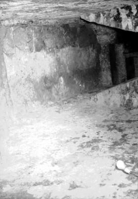 Vista al interior del corredor de la Tumba de Pakal