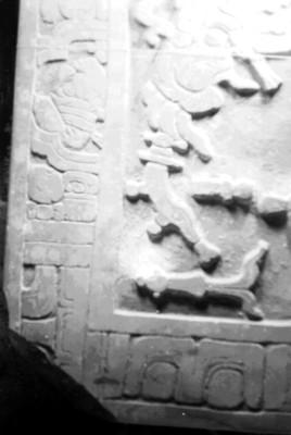 Esquina superior izquierda de la Lápida de Pakal