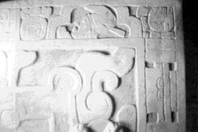 Bajorrelieve de la lápida de Pakal, aspecto
