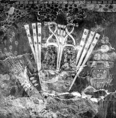 Restos de pintura mural de Cacaxtla