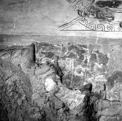 Detalle de pintura mural teotihuacana