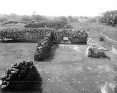 """Cala """"334"""", vista de trabajo arqueológico en La Ciudadela"""